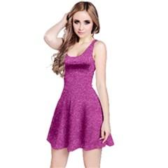 Metallic Pink Glitter Texture Reversible Sleeveless Dress by yoursparklingshop
