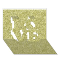 Festive White Gold Glitter Texture Love 3d Greeting Card (7x5)  by yoursparklingshop
