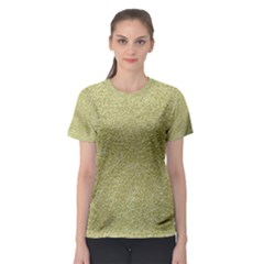 Festive White Gold Glitter Texture Women s Sport Mesh Tee by yoursparklingshop