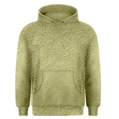 Festive White Gold Glitter Texture Men s Pullover Hoodie by yoursparklingshop