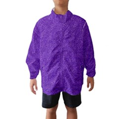 Festive Purple Glitter Texture Wind Breaker (kids) by yoursparklingshop