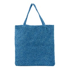 Festive Blue Glitter Texture Grocery Tote Bag by yoursparklingshop