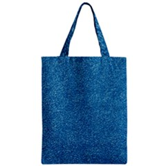 Festive Blue Glitter Texture Zipper Classic Tote Bag by yoursparklingshop