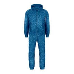 Festive Blue Glitter Texture Hooded Jumpsuit (kids) by yoursparklingshop