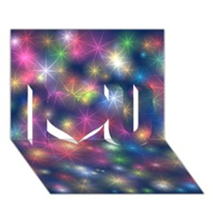 Starlight Shiny Glitter Stars I Love You 3d Greeting Card (7x5)  by yoursparklingshop