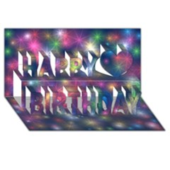 Starlight Shiny Glitter Stars Happy Birthday 3d Greeting Card (8x4)  by yoursparklingshop