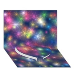 Starlight Shiny Glitter Stars Heart Bottom 3d Greeting Card (7x5)  by yoursparklingshop