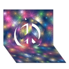 Starlight Shiny Glitter Stars Peace Sign 3d Greeting Card (7x5)  by yoursparklingshop
