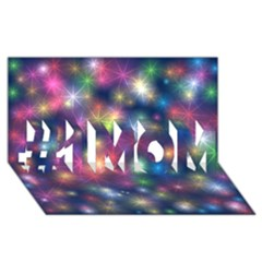 Starlight Shiny Glitter Stars #1 Mom 3d Greeting Cards (8x4)  by yoursparklingshop