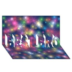 Starlight Shiny Glitter Stars Best Bro 3d Greeting Card (8x4)  by yoursparklingshop