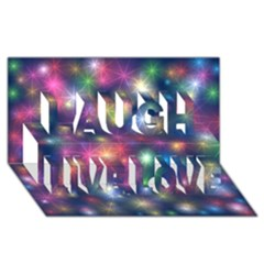 Starlight Shiny Glitter Stars Laugh Live Love 3d Greeting Card (8x4)  by yoursparklingshop