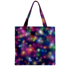 Starlight Shiny Glitter Stars Grocery Tote Bag by yoursparklingshop