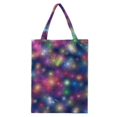 Starlight Shiny Glitter Stars Classic Tote Bag by yoursparklingshop