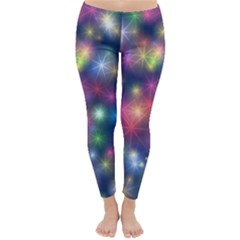 Starlight Shiny Glitter Stars Winter Leggings  by yoursparklingshop