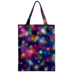 Starlight Shiny Glitter Stars Zipper Classic Tote Bag by yoursparklingshop