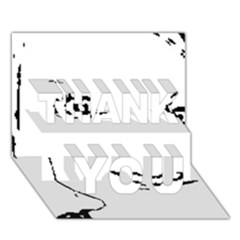 Portrait Black And White Girl Thank You 3d Greeting Card (7x5)  by yoursparklingshop
