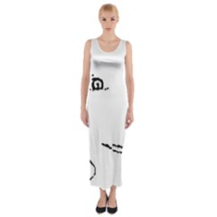 Portrait Black And White Girl Fitted Maxi Dress by yoursparklingshop