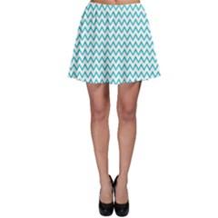 Blue White Chevron Skater Skirt by yoursparklingshop