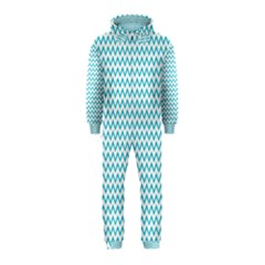 Blue White Chevron Hooded Jumpsuit (kids) by yoursparklingshop