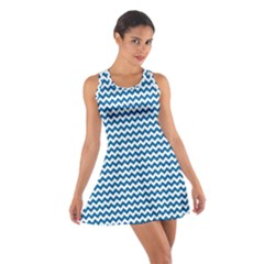 Dark Blue White Chevron  Racerback Dresses by yoursparklingshop