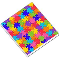 Funny Colorful Puzzle Pieces Small Memo Pads by yoursparklingshop