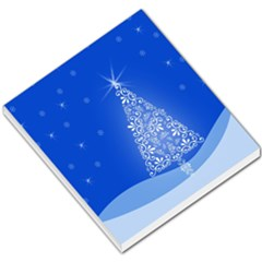 Blue White Christmas Tree Small Memo Pads by yoursparklingshop