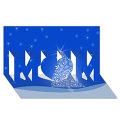 Blue White Christmas Tree Mom 3d Greeting Card (8x4)  by yoursparklingshop