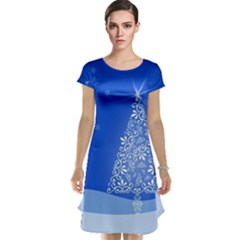 Blue White Christmas Tree Cap Sleeve Nightdress by yoursparklingshop