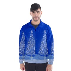 Blue White Christmas Tree Wind Breaker (men) by yoursparklingshop