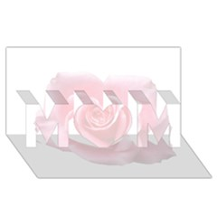 Pink White Love Rose Mom 3d Greeting Card (8x4)  by yoursparklingshop