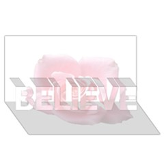 Pink White Love Rose Believe 3d Greeting Card (8x4)  by yoursparklingshop