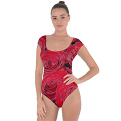 Red Love Roses Short Sleeve Leotard (ladies) by yoursparklingshop