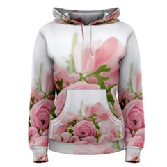 Romantic Pink Flowers Women s Pullover Hoodie by yoursparklingshop