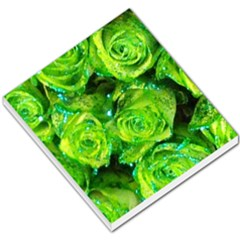 Festive Green Glitter Roses Valentine Love  Small Memo Pads by yoursparklingshop