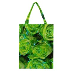 Festive Green Glitter Roses Valentine Love  Classic Tote Bag by yoursparklingshop