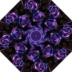 Purple Glitter Roses Valentine Love Straight Umbrellas by yoursparklingshop