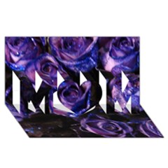 Purple Glitter Roses Valentine Love Mom 3d Greeting Card (8x4)  by yoursparklingshop