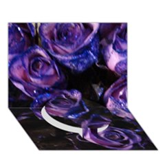 Purple Glitter Roses Valentine Love Circle Bottom 3d Greeting Card (7x5)  by yoursparklingshop