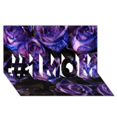 Purple Glitter Roses Valentine Love #1 Mom 3d Greeting Cards (8x4)  by yoursparklingshop