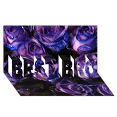 Purple Glitter Roses Valentine Love Best Bro 3d Greeting Card (8x4)  by yoursparklingshop