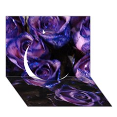 Purple Glitter Roses Valentine Love Circle 3d Greeting Card (7x5)  by yoursparklingshop