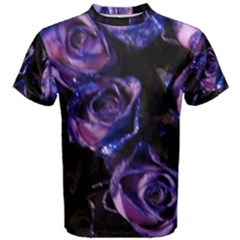 Purple Glitter Roses Valentine Love Men s Cotton Tee by yoursparklingshop