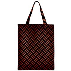 Woven2 Black Marble & Copper Brushed Metal Zipper Classic Tote Bag by trendistuff