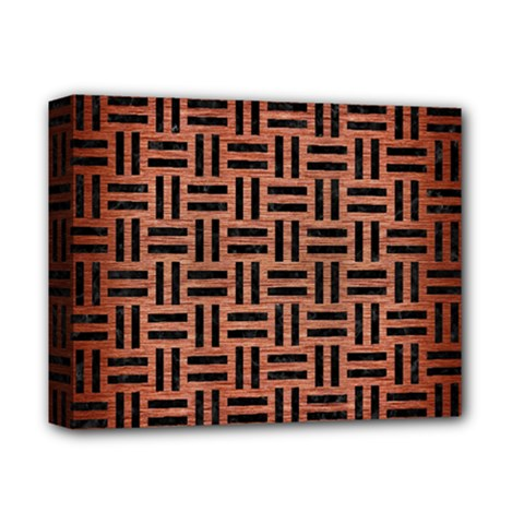 Woven1 Black Marble & Copper Brushed Metal (r) Deluxe Canvas 14  X 11  (stretched) by trendistuff