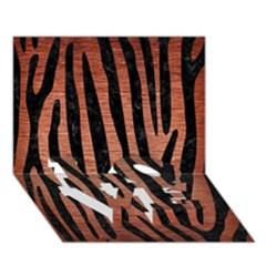 Skin4 Black Marble & Copper Brushed Metal Love Bottom 3d Greeting Card (7x5) by trendistuff