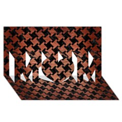 Houndstooth2 Black Marble & Copper Brushed Metal Mom 3d Greeting Card (8x4)