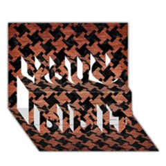 Houndstooth2 Black Marble & Copper Brushed Metal You Did It 3d Greeting Card (7x5) by trendistuff
