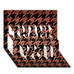 Houndstooth1 Black Marble & Copper Brushed Metal Thank You 3d Greeting Card (7x5) by trendistuff
