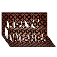 Circles3 Black Marble & Copper Brushed Metal (r) Best Wish 3d Greeting Card (8x4) by trendistuff