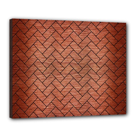 BRK2 BK MARBLE COPPER (R) Canvas 20  x 16  by trendistuff